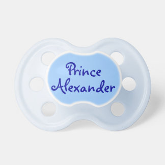 Blue Prince Personalized Name Baby Boy Pacifier