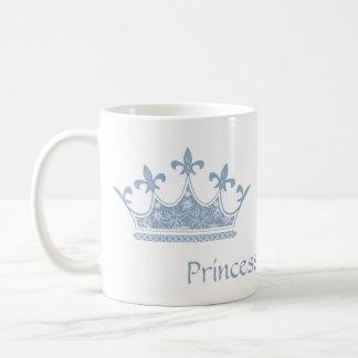 Blue Princess Crown Custom Mug