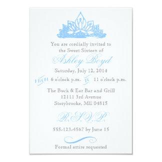 Blue Princess Sweet Sixteen Invitation