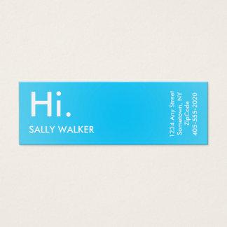 Blue Professional Modern mini business cards
