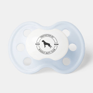 Blue Protected by Wiggle Butt Club Binky Pacifier