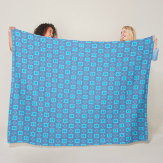 Blue Prussian Silk Pattern Fleece Blanket