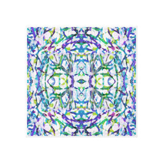 Blue Psychedelic Pattern Canvas Print