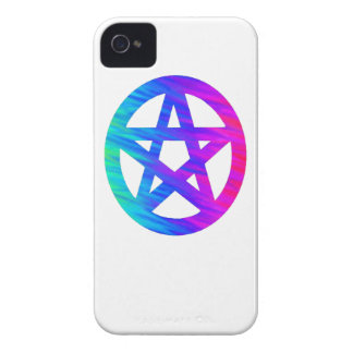 Blue Psychedelic Pentacle iPhone 4 Case-Mate Cases