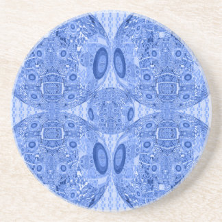 Blue Psychedelic Spheres Coaster