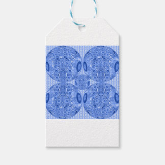 Blue Psychedelic Spheres Gift Tags