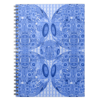 Blue Psychedelic Spheres Notebook