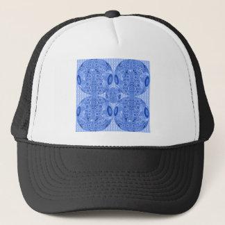 Blue Psychedelic Spheres Trucker Hat