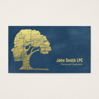 Blue Psychology Personal Counselor Appointment Business Card