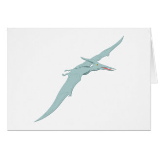 Blue Pterodactyl Dinosaur 4 Card