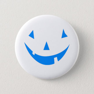Blue Punkin Face Halloween Design 2 Inch Round Button