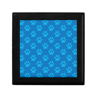 Blue puppy paws pattern gift box