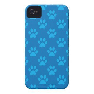 Blue puppy paws pattern iPhone 4 covers