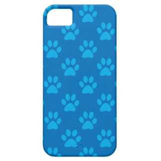 Blue puppy paws pattern iPhone 5 cover