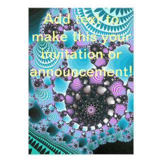 Blue Purple Abstract Design Cards