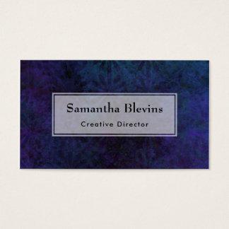 Blue & Purple Abstract, Grungy Digital Art Business Card