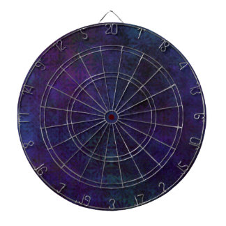 Blue & Purple Abstract, Grungy Digital Art Dartboard