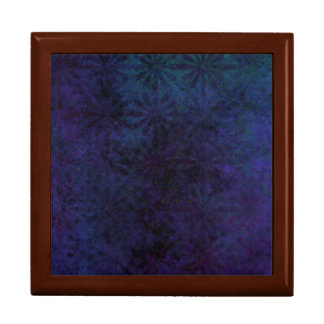 Blue & Purple Abstract, Grungy Digital Art Gift Box
