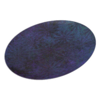 Blue & Purple Abstract, Grungy Digital Art Party Plate