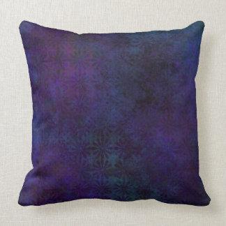 Blue & Purple Abstract, Grungy Digital Art Throw Pillow