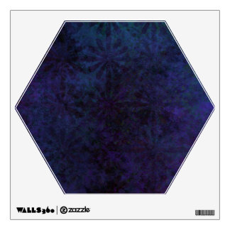 Blue & Purple Abstract, Grungy Digital Art Wall Sticker