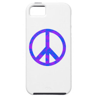 Blue/Purple Abstract Peace Symbol iPhone 5 Covers