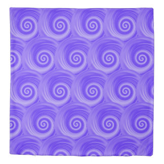 Blue Purple Abstract Swirl Duvet Cover