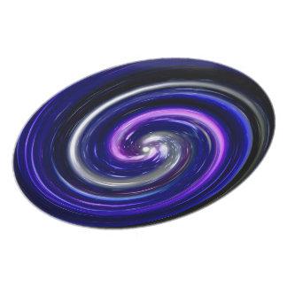 Blue Purple Abstract Swirl Pattern Plate