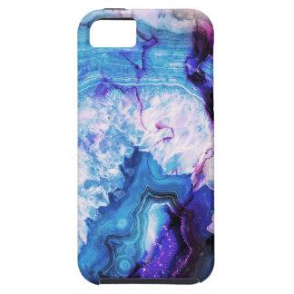 Blue Purple agate gemstone iPhone 5 Covers