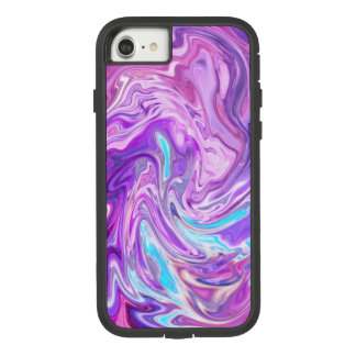 Blue, Purple and Lilac Abstract  Watercolor Case