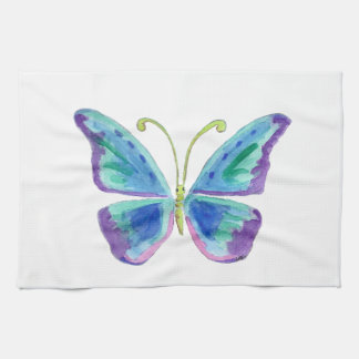 Blue, Purple and Magenta Butterfly Kitchen Towels