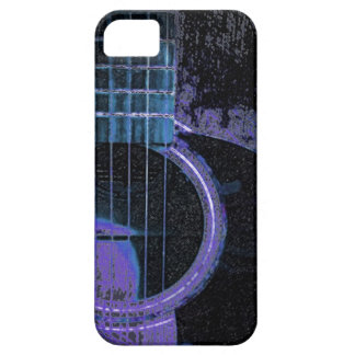 Blue,Purple,Black Guitar on Cell Phone Cover