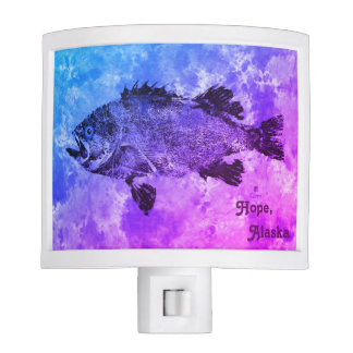 Blue & Purple Black Sea Bass - Hope, Alaska Night Lite