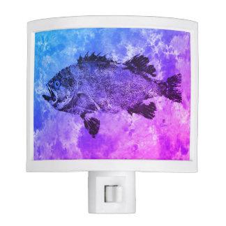 Blue & Purple Black Sea Bass - Night Light