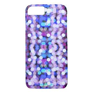Blue purple bokeh lights iPhone 7 case