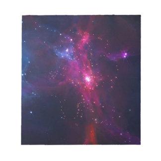 Blue Purple Bright Starry Sky Notepad
