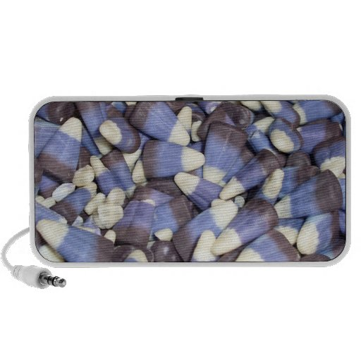 Blue Purple Candy Corn Travelling Speakers