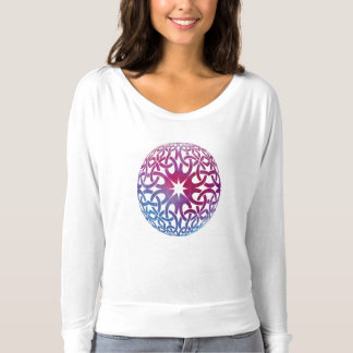 Blue Purple Celtic knot circle T-shirt