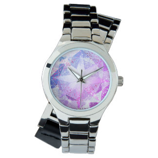 Blue Purple Compass Gemstone Rhinestone Look Watch