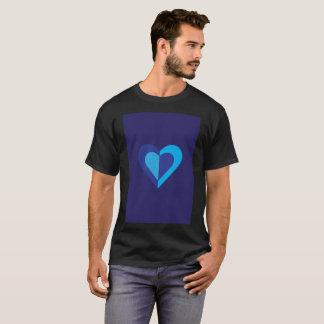 Blue Purple Dark Inverse Reflection Modern T-Shirt