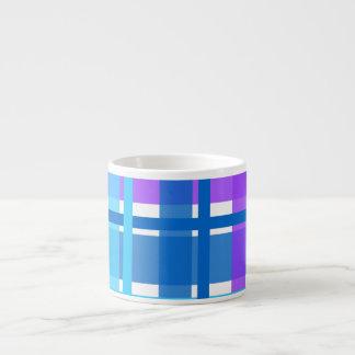 Blue & Purple Gingham Plaid Espresso Mug