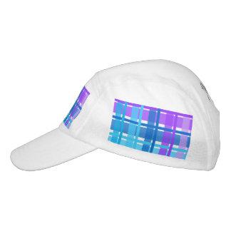 Blue & Purple Gingham Plaid Headsweats Hat