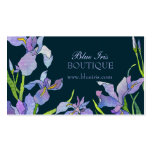 Blue, Purple Iris Business Appointment Cards Pack Of Standard Business Cards