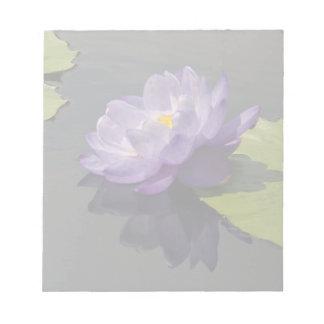 Blue Purple Lotus Waterlily Flower Notepad