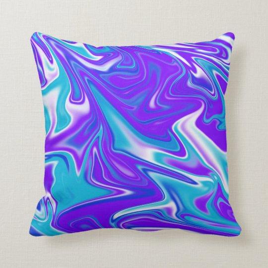 Blue Purple Marble Pattern, Throw Cushion