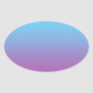 Blue & Purple Ombre Oval Sticker
