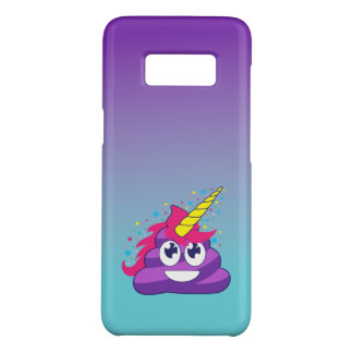 Blue & Purple Ombre Unicorn Poo Emoji Case-Mate Samsung Galaxy S8 Case