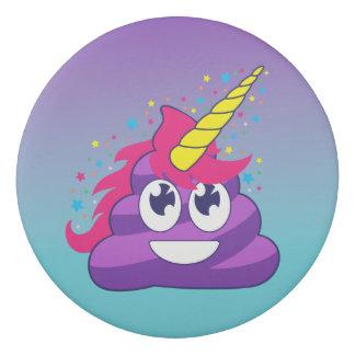 Blue & Purple Ombre Unicorn Poo Emoji Eraser