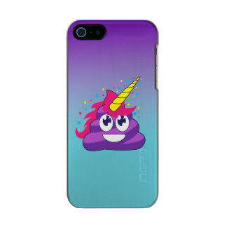 Blue & Purple Ombre Unicorn Poo Emoji Incipio Feather® Shine iPhone 5 Case