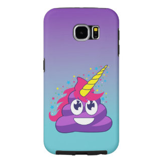 Blue & Purple Ombre Unicorn Poo Emoji Samsung Galaxy S6 Cases
